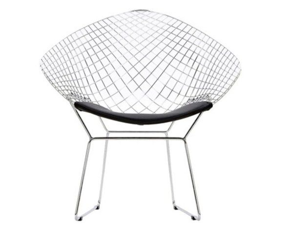 Стул для сада Knoll Harry Bertoia Wire Lounge Chair